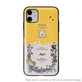 HAMEE ハミィ [iPhone 11/XR専用]ディズニーキャラクター Latootoo カード収納型 ミラー付きiPhoneケース Latootoo ボタニカルプー 599-917381
