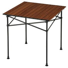 BUNDOK バンドック アルミロールテーブル70(約702×700×705mm/木目) BD-222WB