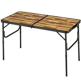BUNDOK バンドック アルミFDテーブル M(約1200×600×705mm/木目) BD-244WB