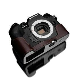 GARIZ ゲリズ OLYMPUS OM-D E-M1 Mark III 用 本革カメラケース ブラウン XS-EM1IIIBR