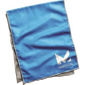 ミッション Mission マイクロファイバークーリングタオル(Blue/25×84cm)【冷感タオル】
