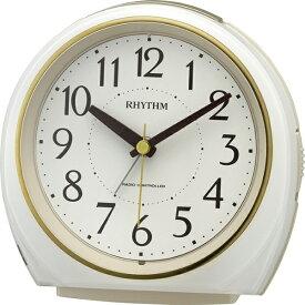 リズム時計 RHYTHM 電波目覚まし時計 「フィットウェーブA438」 4RL438SR03 フィットウェーブA438 白パール色 4RL438SR03