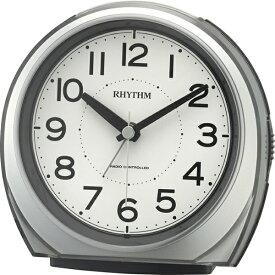 リズム時計 RHYTHM 電波目覚まし時計 「フィットウェーブA438」 4RL438SR19 フィットウェーブA438 シルバーメタリック色