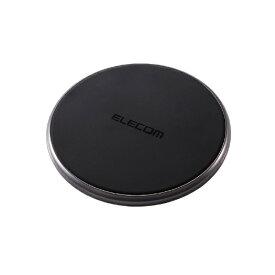 エレコム ELECOM Qi規格対応ワイヤレス充電器 10W 5W Type-C入力 卓上タイプ Type-CメスAC充電器付属 ブラック W-QA15BK