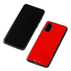 DEFF ディーフ Galaxy S20+用 TPUガラスハイブリットケース Etanze (レッド) DCS-GSES20PRD