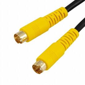 オーム電機 OHM ELECTRIC 2m S端子 ビデオ接続コード VIS-C20S-K [2.0m /S端子⇔S端子]