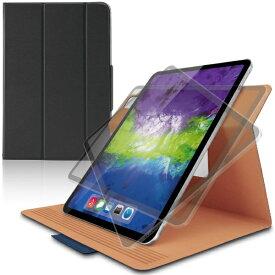 エレコム ELECOM 11インチ iPad Pro(第2世代)用 フラップカバー ソフトレザー/360度回転/軽量/スリープ対応 ブルー TB-A20PMWVSMBU