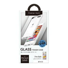 PGA iPod touch 第7世代用 ガラスタフケース ホワイト Premium Style ホワイト PG-IT7GT02WH