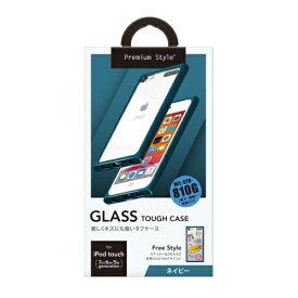 PGA iPod touch 第7世代用 ガラスタフケース ネイビー Premium Style ネイビー PG-IT7GT04NV