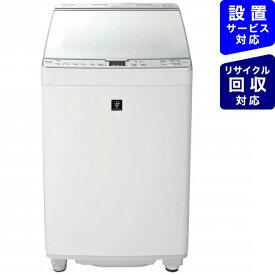 シャープ SHARP ES-PX8E-W 縦型洗濯乾燥機 ホワイト系 [洗濯8.0kg /乾燥4.5kg /ヒーター乾燥(排気タイプ) /上開き][洗濯機 8kg]