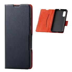 エレコム ELECOM Galaxy A41 ソフトレザーケース 薄型 磁石付 ブラック PM-G202PLFUBK