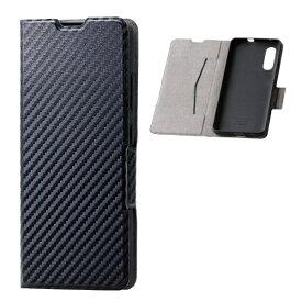 エレコム ELECOM Galaxy A41 ソフトレザーケース 薄型 磁石付 カーボン調(ブラック) PM-G202PLFUCB