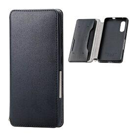 エレコム ELECOM Galaxy A41 ソフトレザーケース 磁石付 ブラック PM-G202PLFY2BK