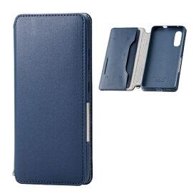 エレコム ELECOM Galaxy A41 ソフトレザーケース 磁石付 ネイビー PM-G202PLFY2NV