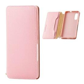 エレコム ELECOM Galaxy A41 ソフトレザーケース 磁石付 ピンク PM-G202PLFY2PN