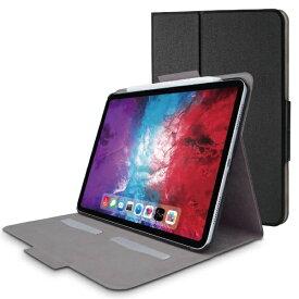 エレコム ELECOM 11インチ iPad Pro(第2世代)用 フラップケース ソフトレザー フリーアングル 薄型 スリープ対応 ブラック TB-A20PMWVFUBK