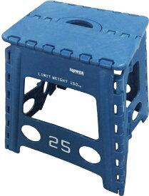 SLOWER 折りたたみ式 フォールディングスツール Lesmo FOLDING STOOL(390x400x330mm/ブルー) SLW-001