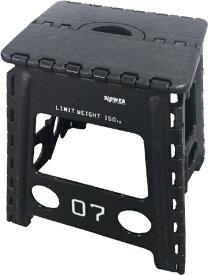 SLOWER 折りたたみ式 フォールディングスツール Lesmo FOLDING STOOL(390x400x330mm/ブラック) SLW-003