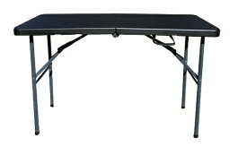 SLOWER アウトドア 折りたたみテーブル FOLDING TABLE(1220x600x740mm/ブラック) SLW-211