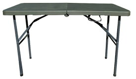 SLOWER アウトドア 折りたたみテーブル FOLDING TABLE(1220x600x740mm/オリーブ) SLW-212