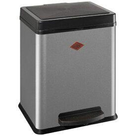 Wesco ウェスコ キッチンペダルビン&プラスチックライナー20L セパレートダブル DOUBLE BIN 380 メタリックシルバー 380411-11