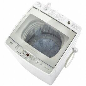 AQUA アクア AQW-GV80JBK-W 全自動洗濯機 ホワイト [洗濯8.0kg /上開き]