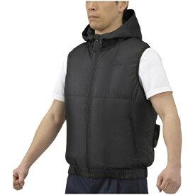 ミズノ mizuno メンズ エアリージャケットベスト(XLサイズ/ブラック) C2JE0102【ファン・バッテリー別売り】