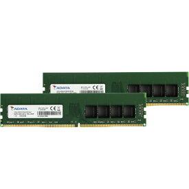 ADATA エイデータ 増設メモリ デスクトップ用 AD4U3200716G22-D [DIMM DDR4 /16GB /2枚]