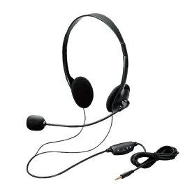 エレコム ELECOM HS-102TBK ヘッドセット ブラック [φ3.5mmミニプラグ /両耳 /ヘッドバンドタイプ]