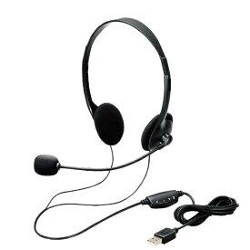 エレコム ELECOM HS-102UBK ヘッドセット ブラック [USB /両耳 /ヘッドバンドタイプ]