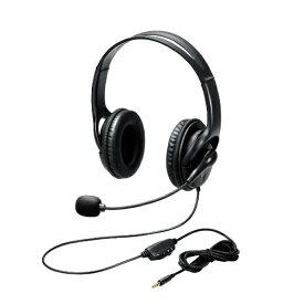 エレコム ELECOM HS-103TBK ヘッドセット ブラック [φ3.5mmミニプラグ /両耳 /ヘッドバンドタイプ]