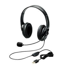 エレコム ELECOM HS-103UBK ヘッドセット ブラック [USB /両耳 /ヘッドバンドタイプ]