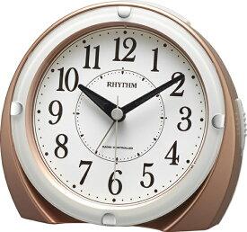リズム時計 RHYTHM 電波目覚まし時計 「フィットウェーブA439」 4RL439SR13 【フィットウェーブA439】 ピンクゴールド 4RL439SR13