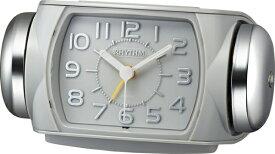 リズム時計 RHYTHM 大音量ベル音目覚まし時計 「タフバトラー647」 8RA647SR08 タフバトラー647 グレー 8RA647SR08