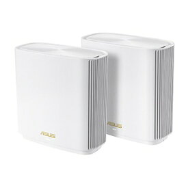 ASUS エイスース Wi-Fiルーター (2個) ZenWiFi XT8/W (2 Pack) ホワイト [Wi-Fi 6(ax)/ac/n/a/g/b]