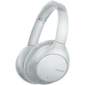 ソニー SONY ブルートゥースヘッドホン ホワイト WH-CH710N WZ [リモコン・マイク対応 /Bluetooth /ノイズキャンセリング対応]