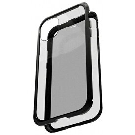 AREA エアリア iPhone 11 用 360 STRONG 2 ガラスパネル バンパーケース エアリア ブラック MS-B2G11-BK
