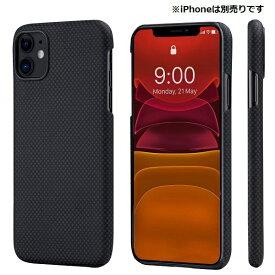 PITAKA iPhone 11 用 アラミドケース PITAKA ブラック/グレイPlain KI1102R