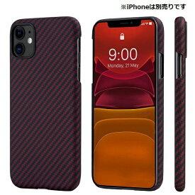 PITAKA iPhone 11 用 アラミドケース PITAKA ブラック/レッドTwill KI1103R