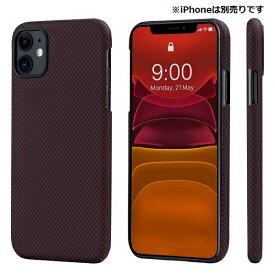 PITAKA iPhone 11 用 アラミドケース PITAKA ブラック/レッドPlain KI1104R