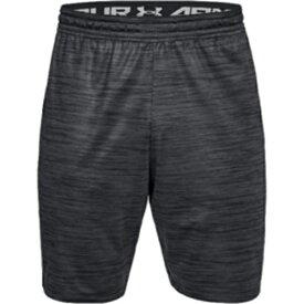 アンダーアーマー UNDER ARMOUR メンズ トレーニング ショートパンツ UA MK-1 ツイスト ショーツ(XXLサイズ/Black×Stealth Gray) 1312297-001