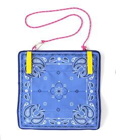 アントレックス entrex ポータブルクッション ペイズリー(約35×35× 厚0.6cm/ブルー) 50813