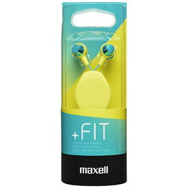 マクセル Maxell イヤホン カナル型 MXH-C110R グリーン×イエロー [コード巻き取り /φ3.5mm ミニプラグ][MXHC110RMXGY]