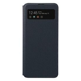 SAMSUNG サムスン 【サムスン純正】GalaxyA41 S VIEW WALLET COVER ブラック EF-EA414PBEGJP