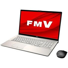 富士通 FUJITSU FMVN90E2G ノートパソコン LIFEBOOK NH90/E2 シャンパンゴールド [17.3型 /intel Core i7 /HDD:1TB /Optane:16GB /SSD:256GB /メモリ:8GB /2020年6月モデル][17.3インチ office付き 新品 windows10]