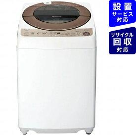 シャープ SHARP 全自動洗濯機 ブラウン系 ES-G10EBK [洗濯10.0kg /乾燥機能無 /上開き]【point_rb】