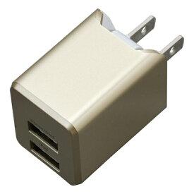 ティ・レイズ TR Company AC充電器+Lightningケーブル 1m PREMIUM ゴールド BU2ULAN3410GD [USB給電対応 /2ポート]