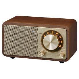 Sangean サンジーン FMラジオ対応 ブルートゥーススピーカー ウォールナット WR-301 [Bluetooth対応]