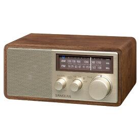 Sangean サンジーン FM/AMラジオ対応 ブルートゥーススピーカー ウォールナット WR-302 [Bluetooth対応]