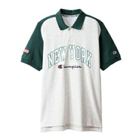 チャンピオン CHAMPION メンズ ポロシャツ(Lサイズ/グリーン) C3-RG311